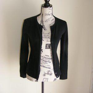 Merona black button front cardigan sweater